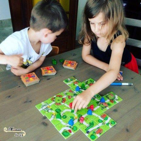 Jeu de société enfants - Mon premier carcassonne de Filosofia - jeu de placement et stratégie à partir de 4 ans maternelle primaire - issu du blog maman sur le fil