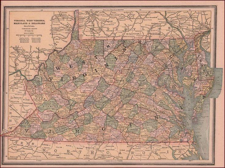 Best 20 Virginia map ideas on Pinterest