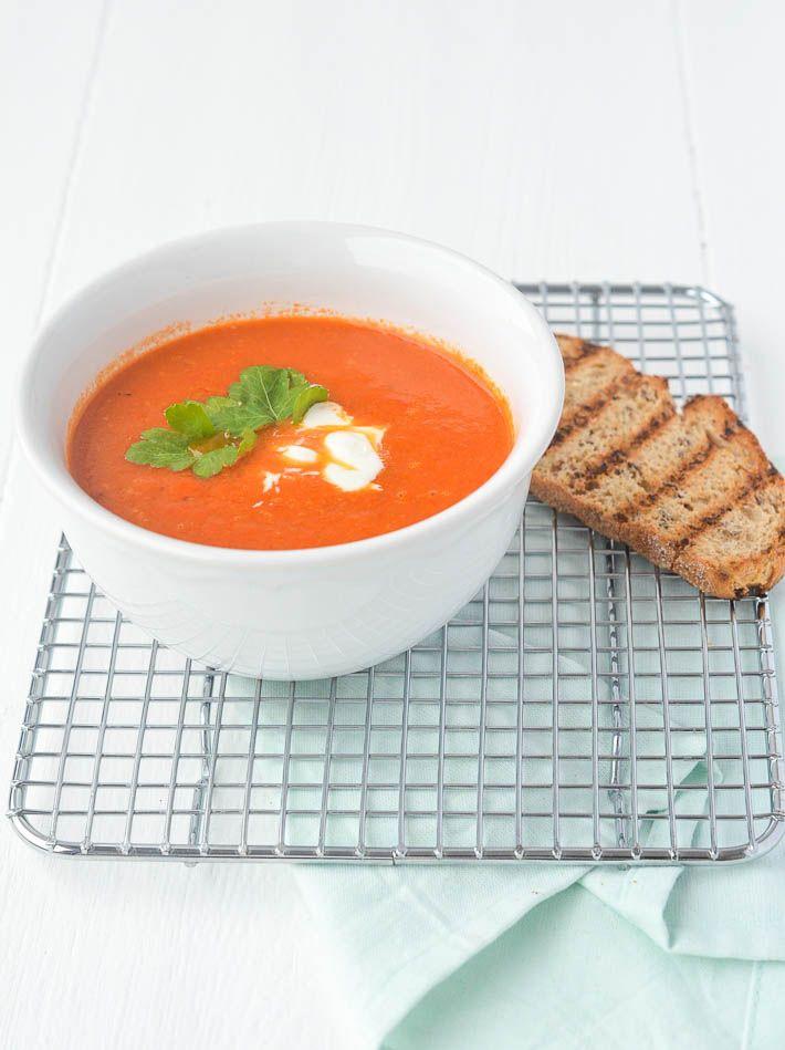 Geroosterde paprika soep #soup