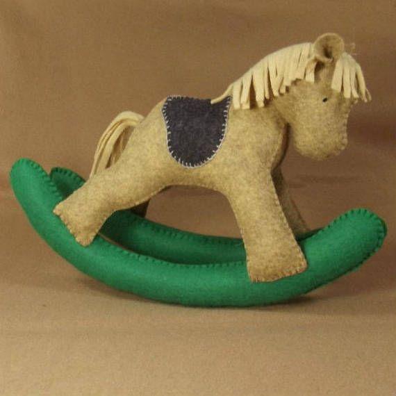 Felt Plush Rocking Horse PDF pattern and Tutorial Rocking