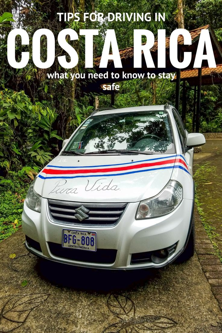 Detailed information and practical tips for driving in Costa Rica to stay safe: https://mytanfeet.com/about-cr/driving-in-costa-rica-take-slow/