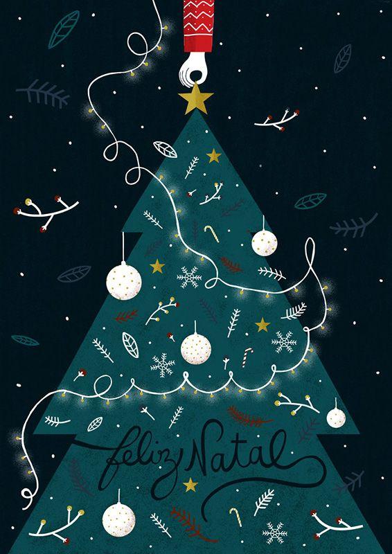 #illustration #Christmas #decoration #typography #tree #newdivision #anaseixas