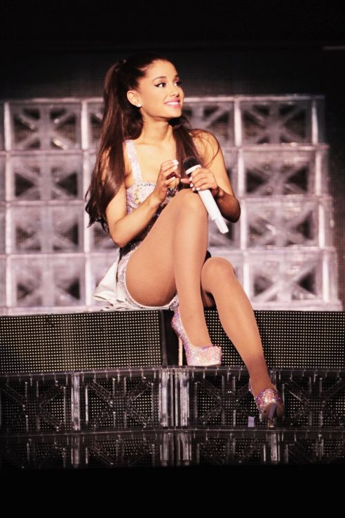 """::Ariana Grande::""""hey I'm Ariana! But everyone calls me Ari""""I smile""""I'm 17 and single, but looking for the right guy. My dad Is really rich, so I'm spoiled. I'm a singer, actress, and model. I love starbucks and shopping! That's it about me, come say hi?"""""""