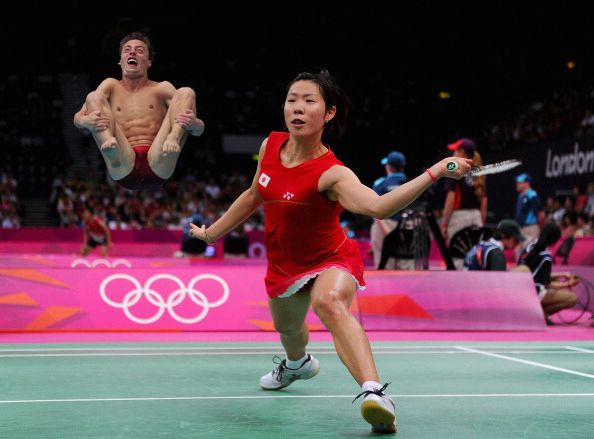 "Buzzfeed: ""20 photos of Olympic badminton players swatting divers like they're flies.""  Definitely not photoshopped!"