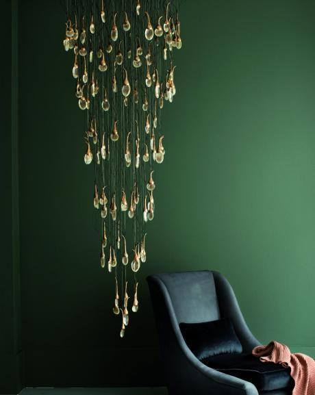 Ochre, seed cloud chandelier custom