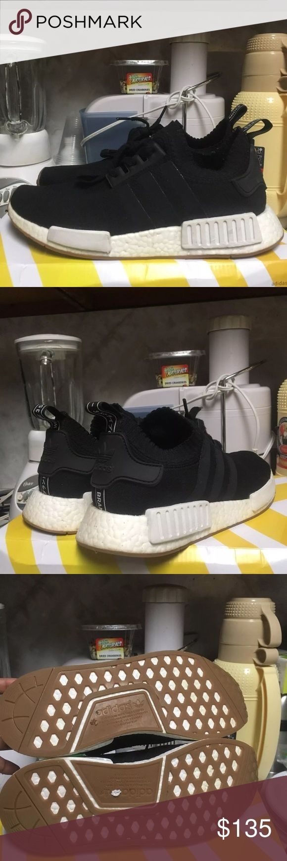 Adidas NMD_R1 PK Gum bottom 8/10 condition  Featuring the life enhancing boost midsole  Comes with original box  (different from the box in the pictures) Price is semi firm-send in your offers! adidas Shoes Sneakers