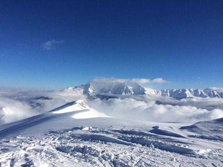 Skiferien in den Schweizer Alpen, Surselva, Graubünden