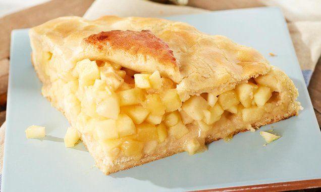 Zugedeckter Apfelkuchen nach typisch amerikanischer Art: knuspriger Teig mit saftiger Füllung!