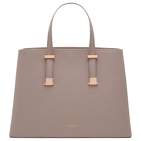 Buy Ted Baker Alissaa Crosshatch Leather Tote Bag, Mid Purple Online at johnlewis.com