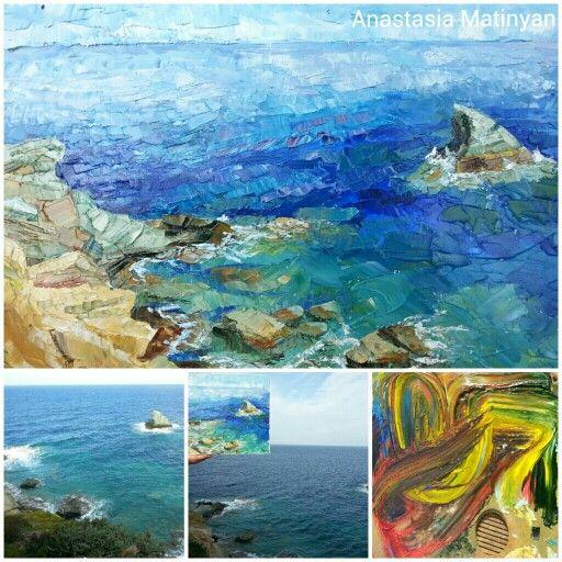 My painting. Painted en plein air. In Greece. 2013. Oil on canvas, mastehin.