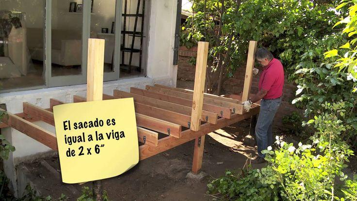 C mo construir una terraza de madera videos pinterest for Como construir una piscina en chile