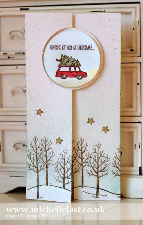 white-christmas Circle card thinlits