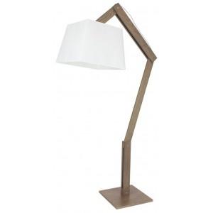 Lampadaire articulé en bois- bois teinté grisé
