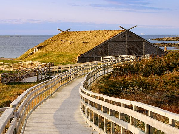 Picture of Viking village at L'Anse aux Meadows, Newfoundland, Canada