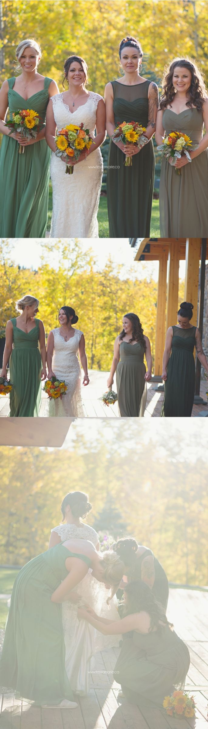 36 best bridesmaids images on pinterest bridesmaids wedding at azuridge priddis alberta calgary wedding photographer green bridesmaid dress autumn ombrellifo Images