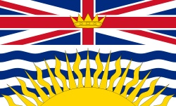 British Columbia Flag…it shows sunshine yet it rains in Vancouver all the time. Maybe a monkey's wedding?