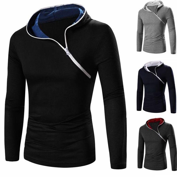 Moda Para hombres Camiseta Mangas largas Calce ajustado Para hombres Informal Camiseta Cremallera Camiseta Prendas para el torso | Ropa, calzado y accesorios, Ropa para hombre, Camisetas | eBay!