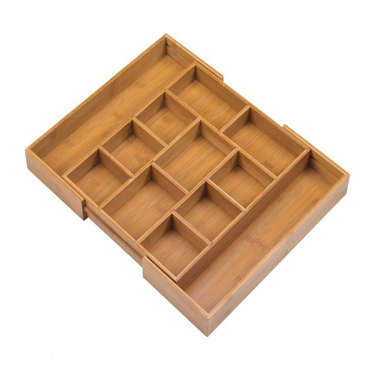 Expandable Bamboo Drawer Organizer