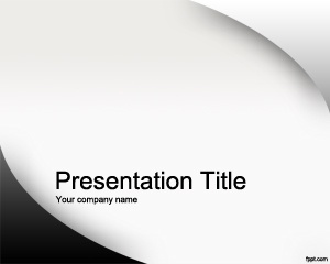 Free gray Small business PowerPoint Template with curves