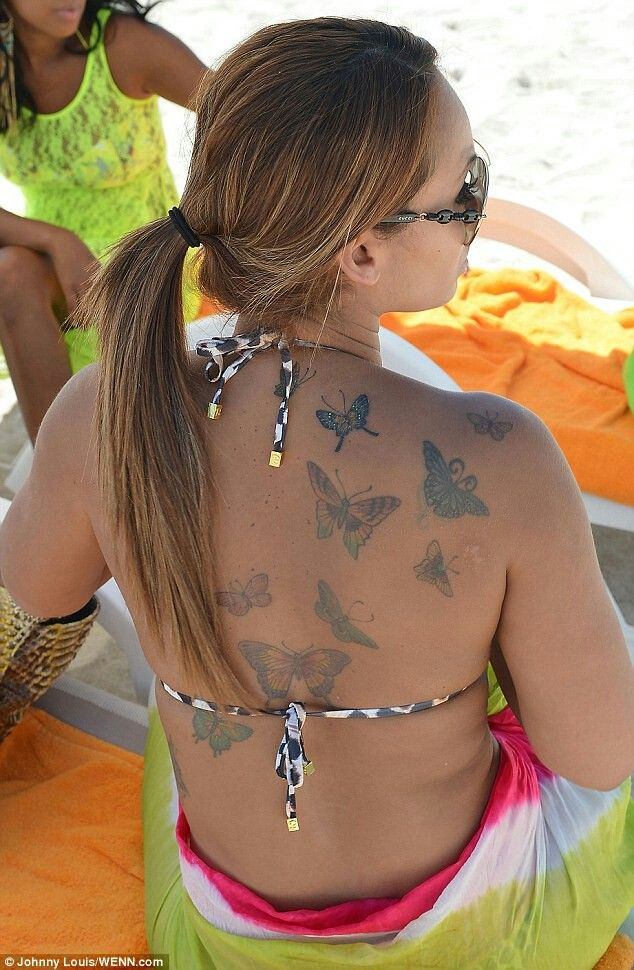 Evelyn lozada butterflies tattoo
