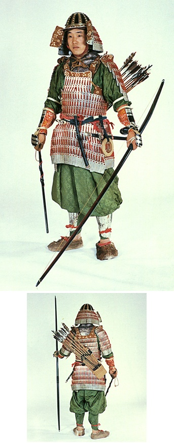 Armor of the adjutant general. early heian era. Japan.