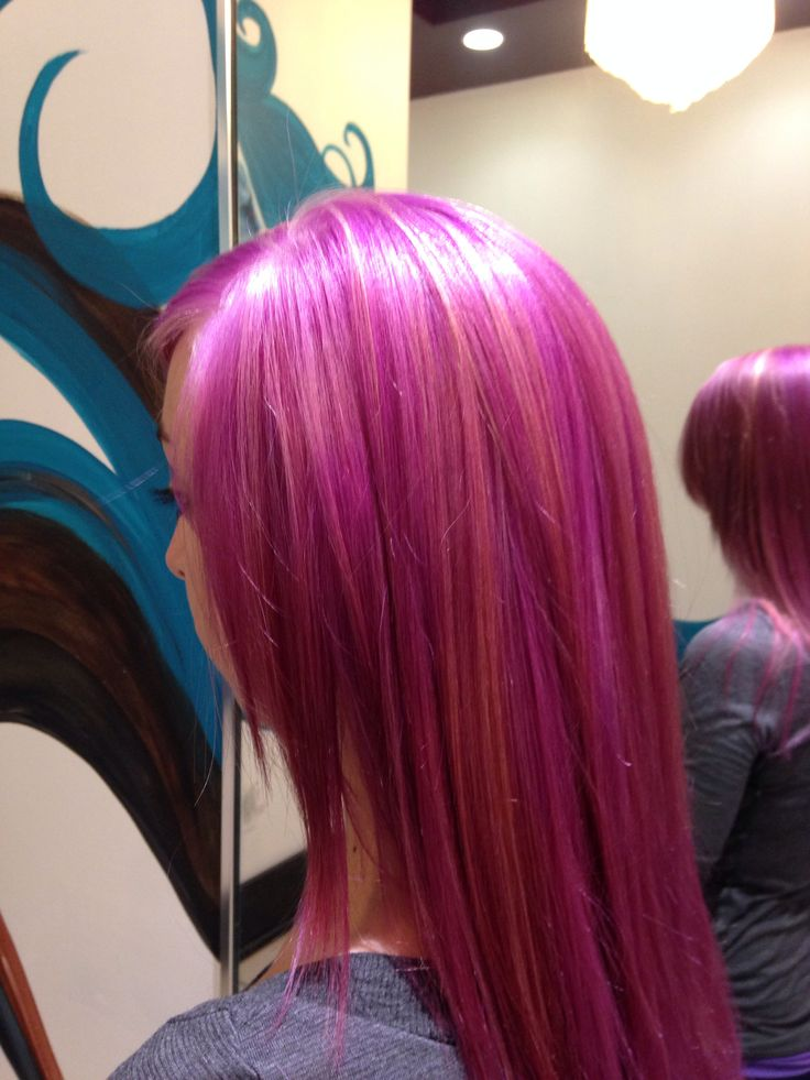 Pravana Vivid Color With Blonde Highlights Hair Done By