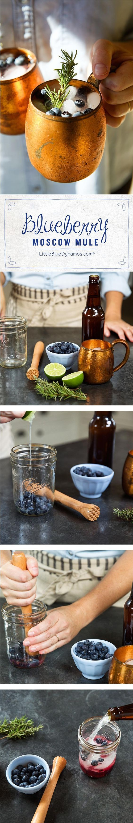 Blueberry Rosemary Moscow Mule