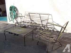 Vintage Patio Furniture For Sale   Vintage Wrought Iron Patio Set    (Oreland, PA