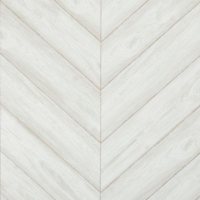 Peel & Stick Wallpaper Textured Herringbone Gray Cloud