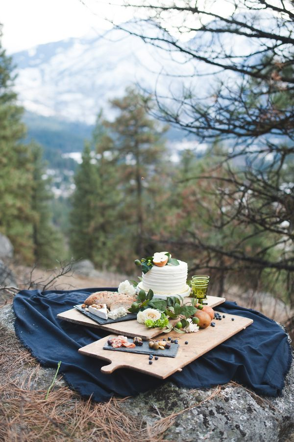 Romantic Mountain Elopement in Washington  on Borrowed & Blue.  Photo Credit: Tonie Christine Photography