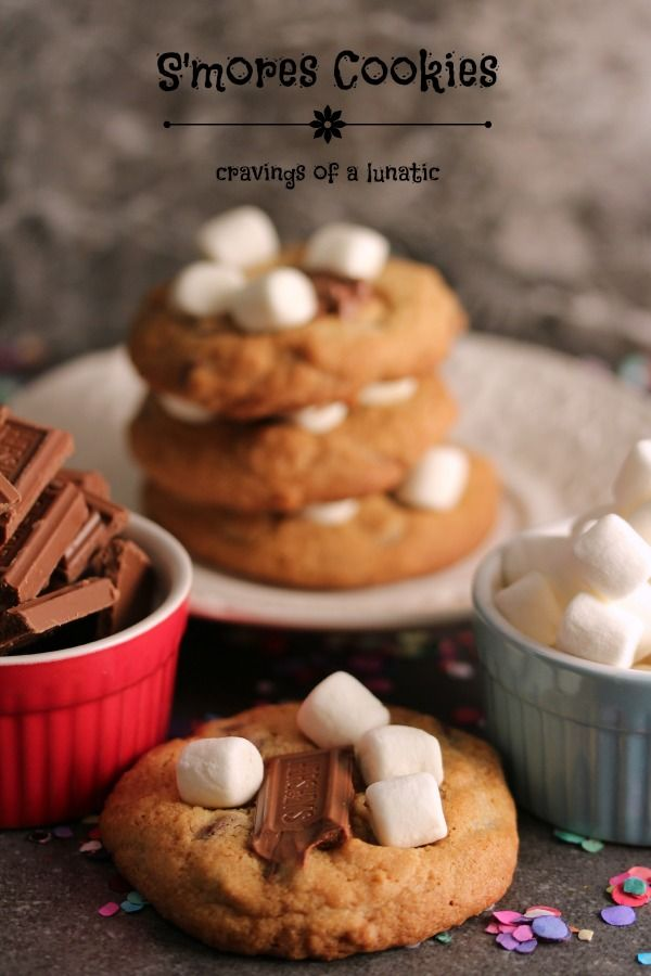 S'mores Cookies | Perfect bite every time. These S'mores Cookies are loaded with graham crumbs, mini marshmallows and chocolate. Whip some up today!