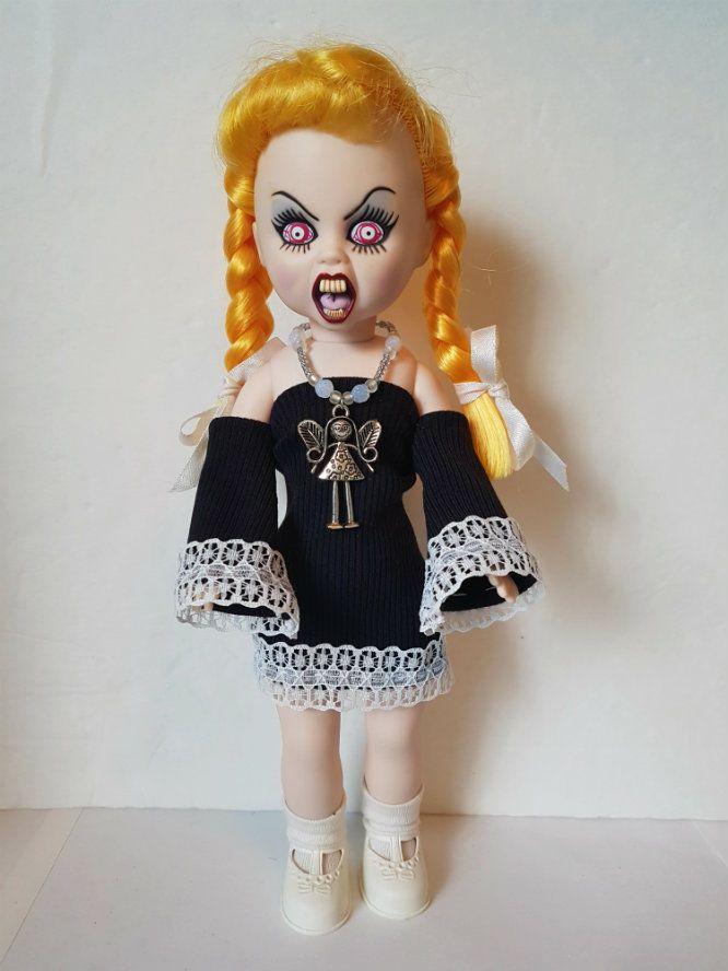 Living Dead Doll Clothes ANGEL black Dress & Necklace goth fashion NO DOLL d4e #DOLLS4EMMAOriginalDesigns #ClothingAccessories