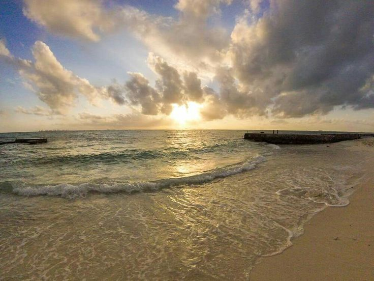 Sunset in isla mujerea. An island off the coast of Cancún Mexico.  Relaxed and chilled vibes all-round.