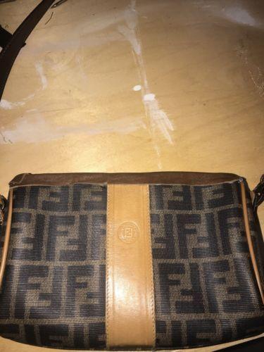 49413b8290 100% Authentic Fendi 1925 Vintage Made in Italy Monogram Shoulder Bag Custom
