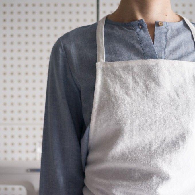 FAB #104 白いエプロン - fab-fabric sewing studio | 布地のオンライン通販とソーイングスクール