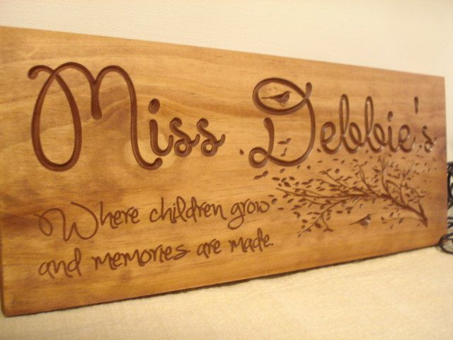 Custom Wooden Sign for daycare provders by BenchmarkSignsGifts, $39.99
