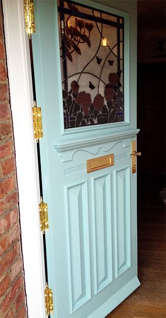 1930s front door with butterfly design stained glass #DIY #HomeRenovation #Decor #HomeDecor & The 14 best 1920s u0026 1930s Front Doors images on Pinterest | Entrance ...
