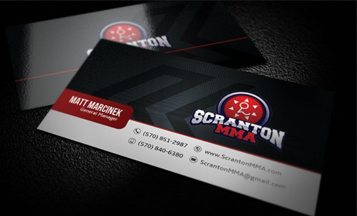 Professional Fighter Business Card Design Business Card Inspiration Business Cards Custom Business Cards