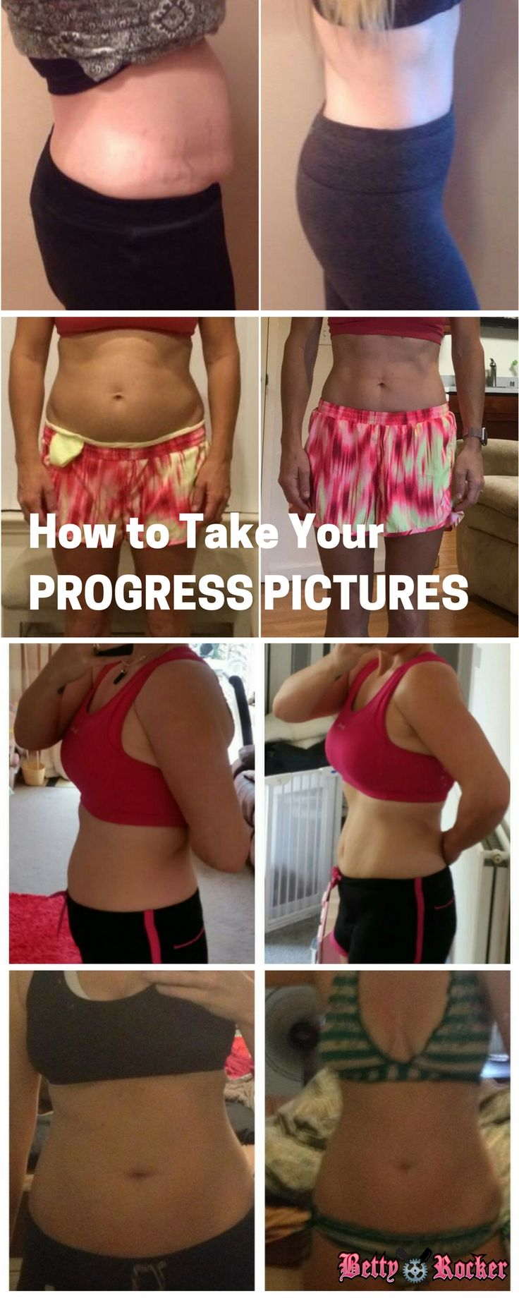 Here's a great reference for how to take your progress pictures.