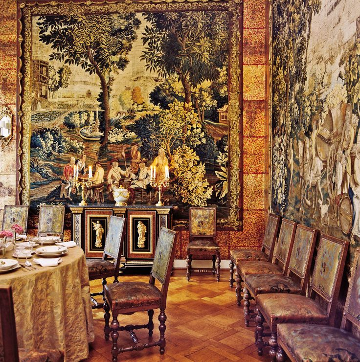Dining room by louis r my de la fosse the walls of the for Dining room in german