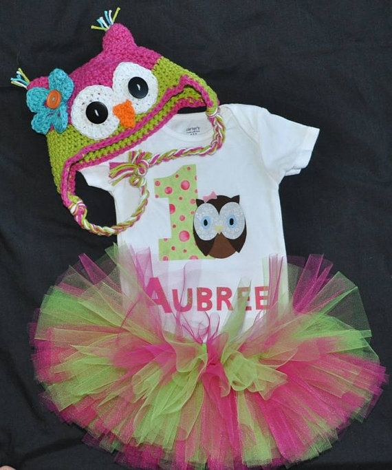 Little round Owl shirt with matching hat and by AdORRableCraftORR, $45.00