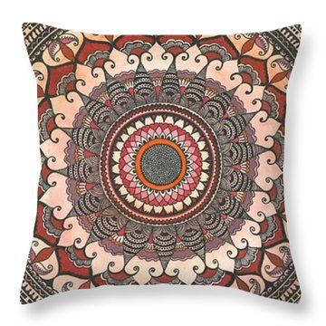 Throw Pillow featuring the drawing My Heart's Desire by Ajanta Roy Chaudhury