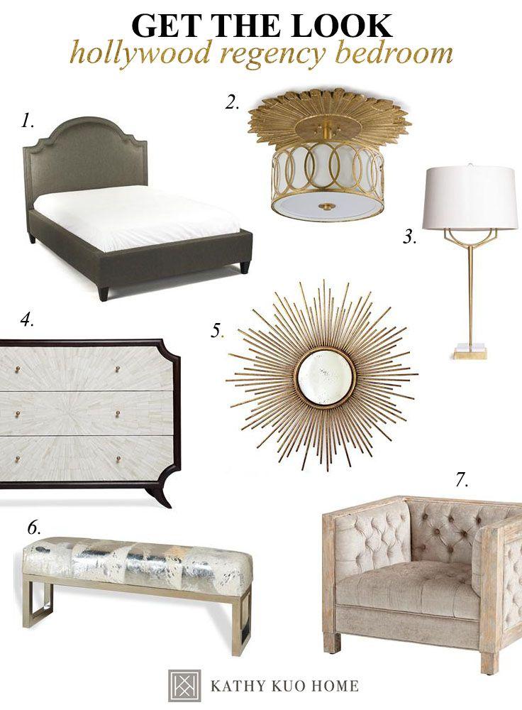 Decorate a Hollywood Regency Bedroom #KathyKuoHome #HollywoodRegencyDreamRoom