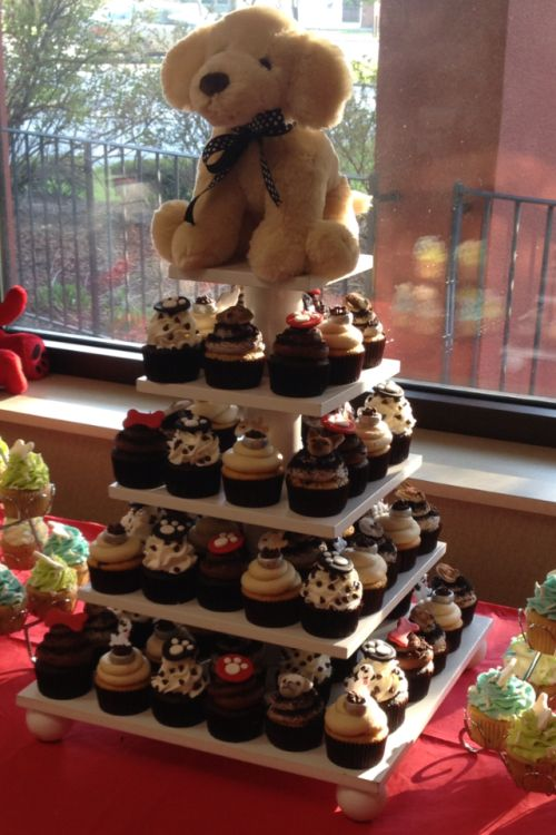 Sweet Simplicity Bakery Dog Theme Cupcake Tower With