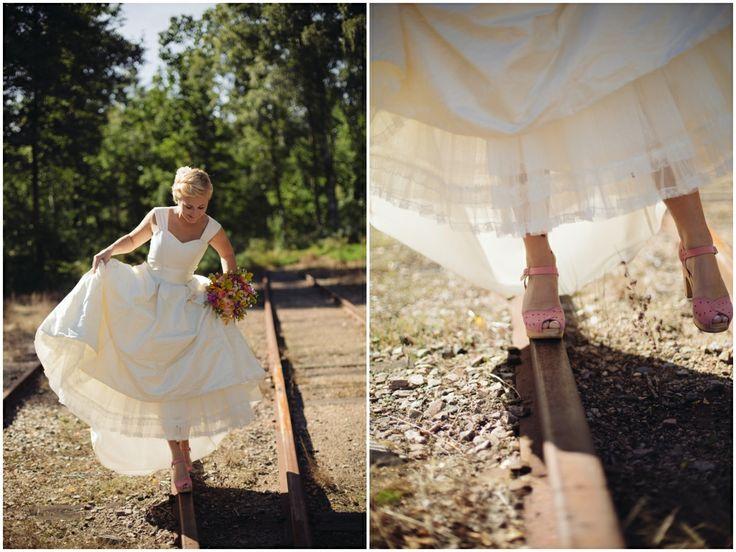 bride, vintage, wedding, shoes, ateljelena.se