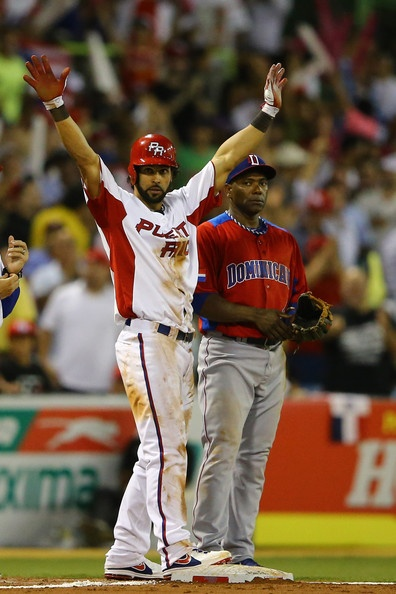 Angel Pagan Photo - World Baseball Classic - Pool C - Dominican Republic v Puerto Rico...Last Giant standing in WBC (besides Casilla on DR team and Sir Hensley Meulens, the DR manager).