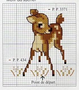 Bambi and thumper cross stitch 3/3