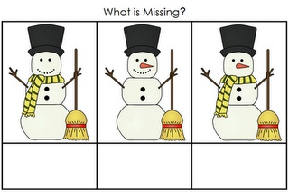 What's Missing Snowman Game from A Child's Place- Re-pinned by @PediaStaff – Please Visit http://ht.ly/63sNt for all our pediatric therapy pins
