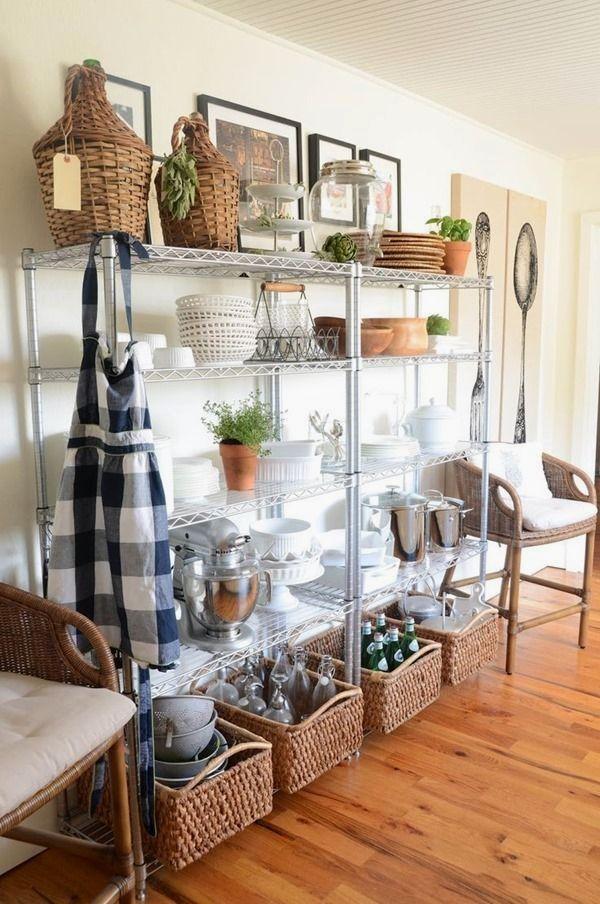 41 Useful Kitchen Cabinets For Storage Metal Kitchen Shelves