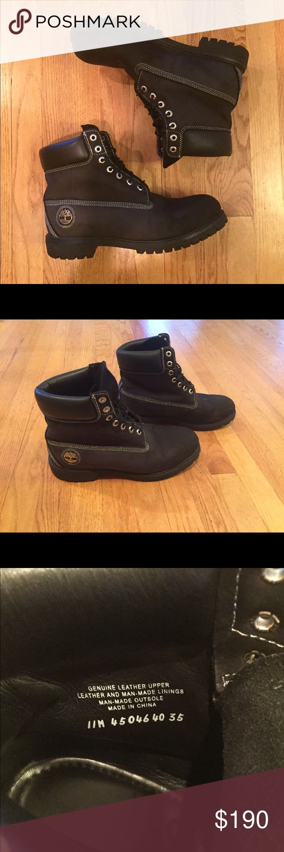 Timberland boots Black limited edition. Purchased few years ago but used very carefully at the time used so there's no damage to it. It still looks almost like new. ❌No trade❌Bundle discount. Timberland Shoes Boots